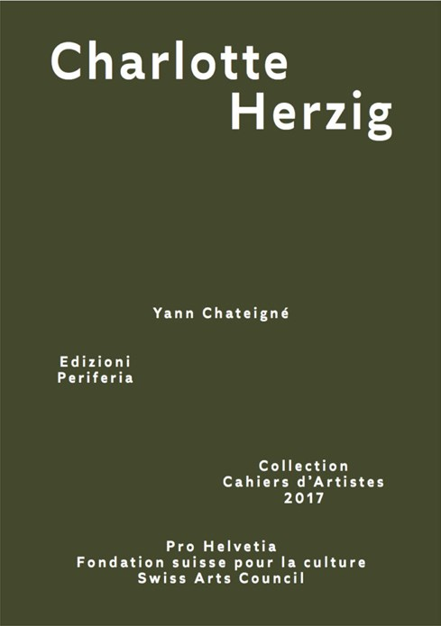 Charlotte Herzig (Collection Cahiers d'Artistes 2017)