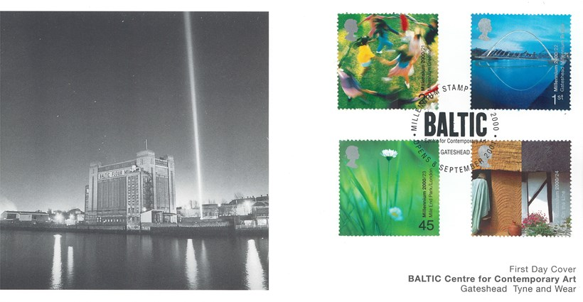 Gateshead Millennium Bridge First Day Cover (4 stamps)