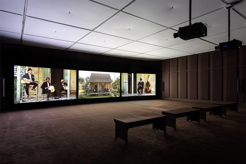 John Akomfrah: Ballasts of Memory: Installation View (01)
