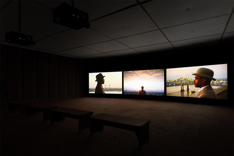 John Akomfrah: Ballasts of Memory: Installation View (03)