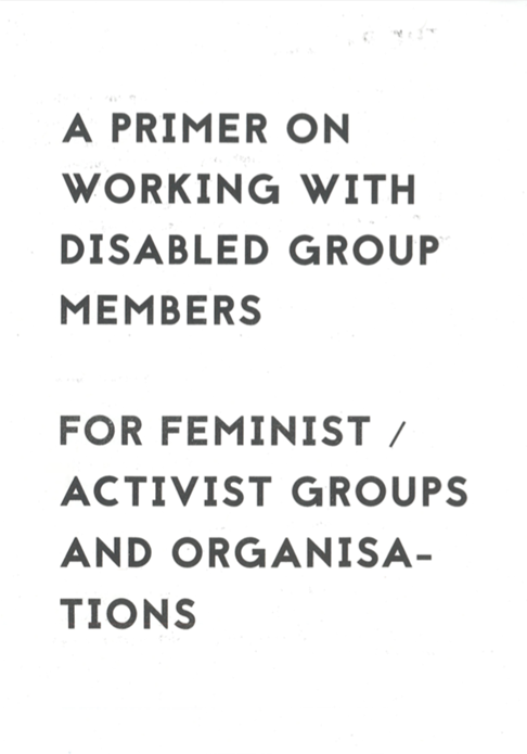 Romily Alice Walden: A Primer on Working with Disabled Group Members