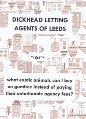 Happy Otter Zines: Dickhead Letting Agents of Leeds