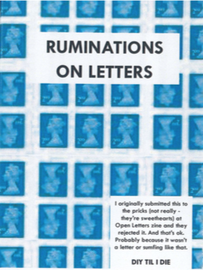 Happy Otter Zines: Ruminations on Letters