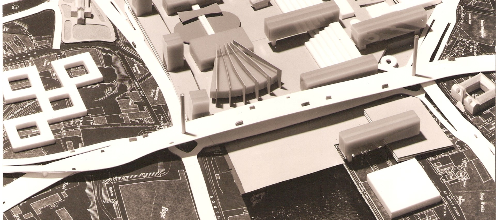 Model of the Tyne Deck proposal, 1969, Ryder and Yates (courtesy Ryder)
