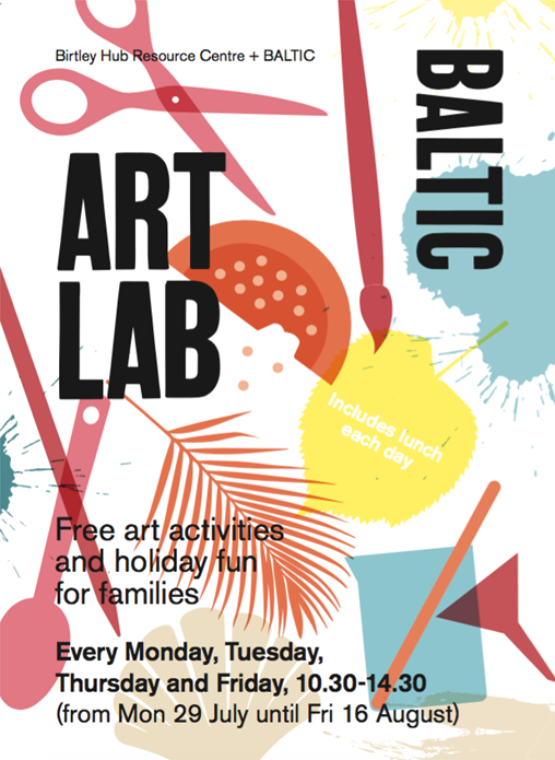 BALTIC Summer Art Lab: Flyer