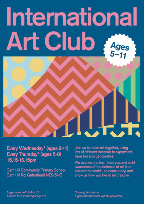 International Art Club: Flyer