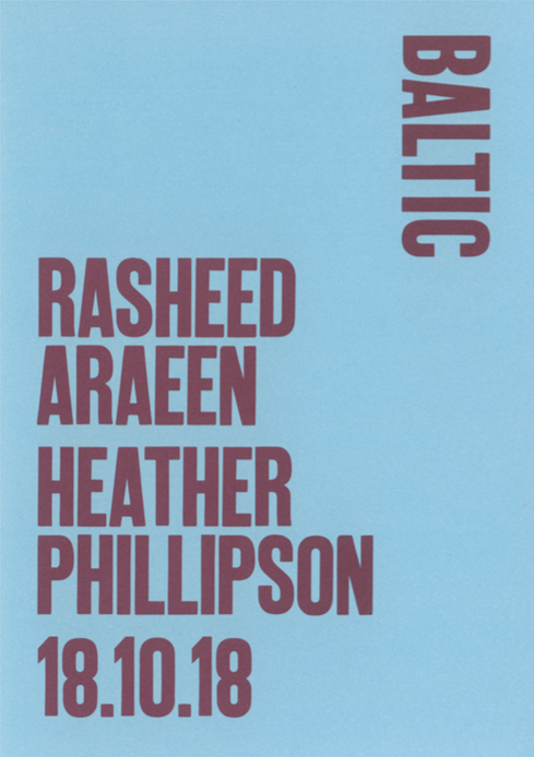 Rasheed Araeen / Heather Phillipson: Preview Card