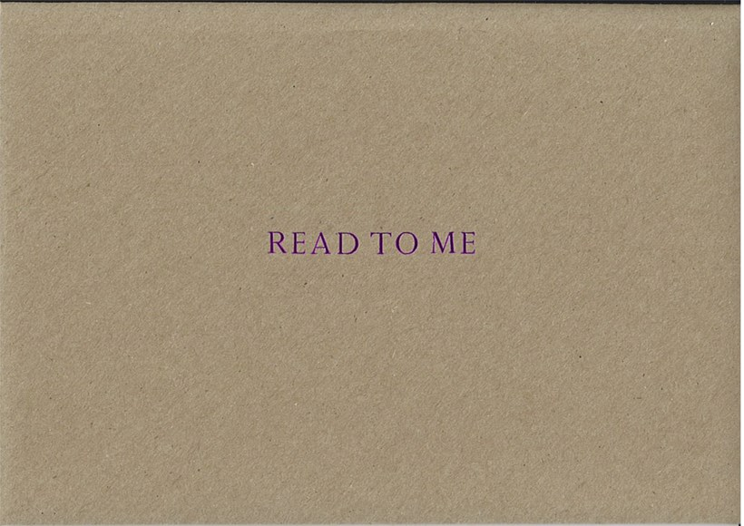 Sarah Bodman: Read To Me