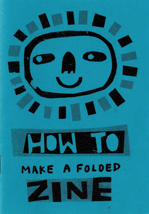 How to make a folded zine by Lily Arnold