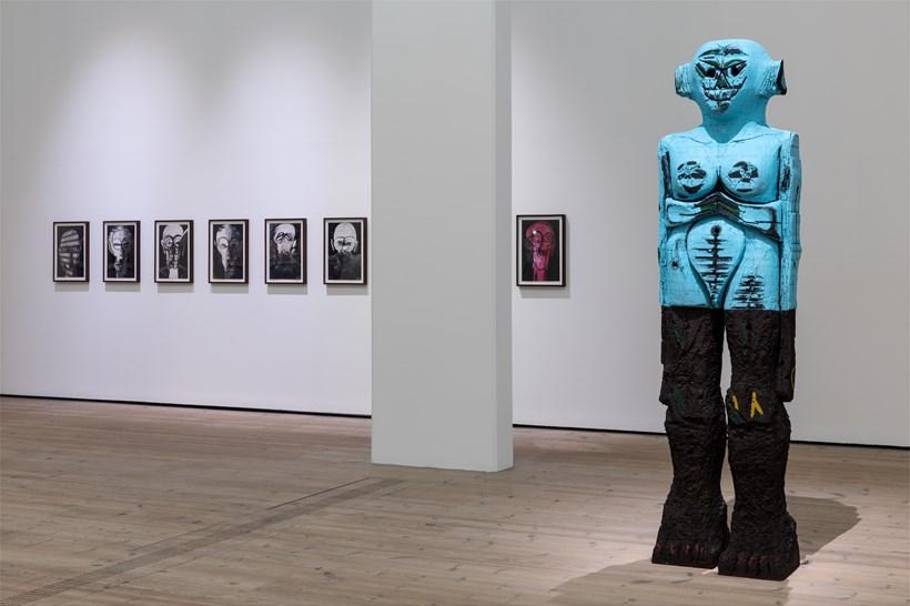 Huma Bhabha: Against Time: Installation View (01)