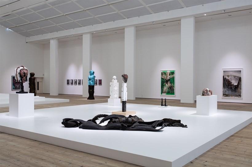 Huma Bhabha: Against Time: Installation View (02)