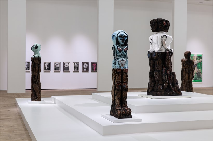 Huma Bhabha: Against Time: Installation View (06)
