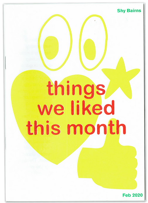 Shy Bairns: things we liked this month - February/March 2020