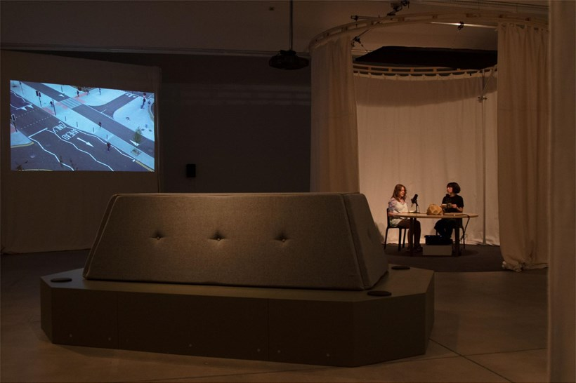 Town Hall Meeting of the Air: Installation View (04)