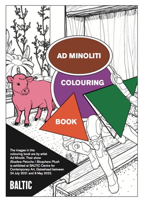 Ad Minoliti: Biosfera Peluche / Biosphere Plush: Colouring Book