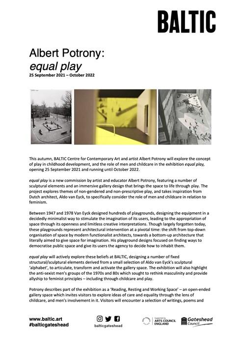 Albert Potrony: Press Release