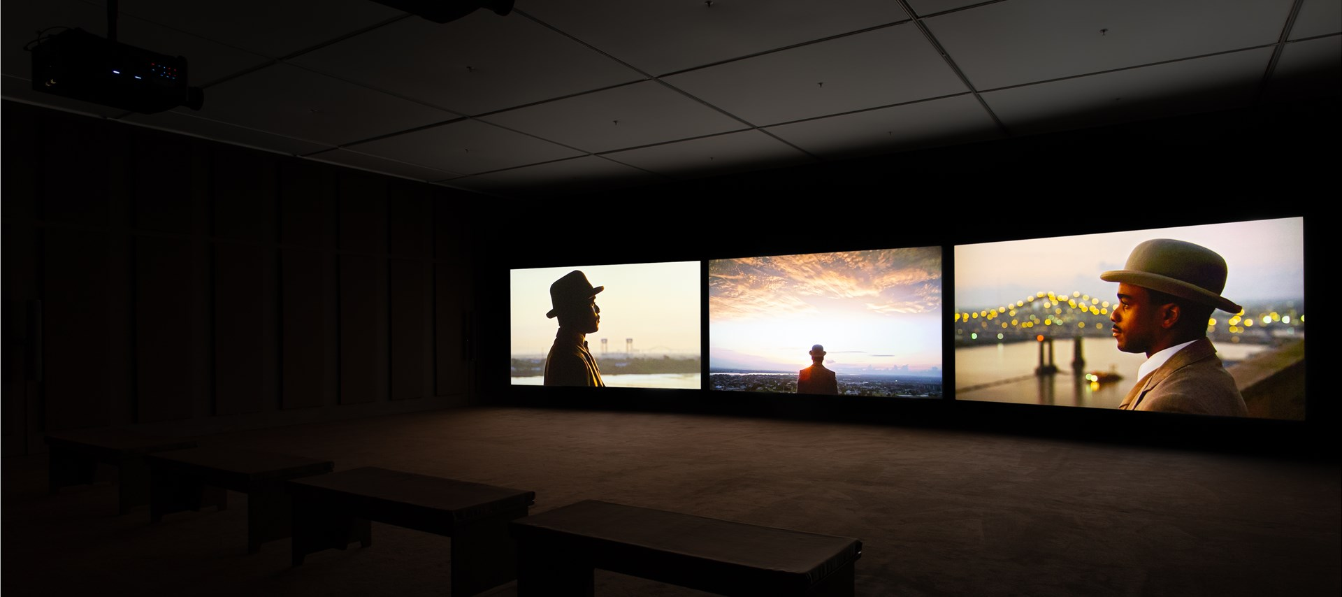 John Akomfrah: Ballasts of Memory: Installation View by Rob Harris. © BALTIC. Courtesy of the artist, Smoking Dogs Films and Lisson Gallery