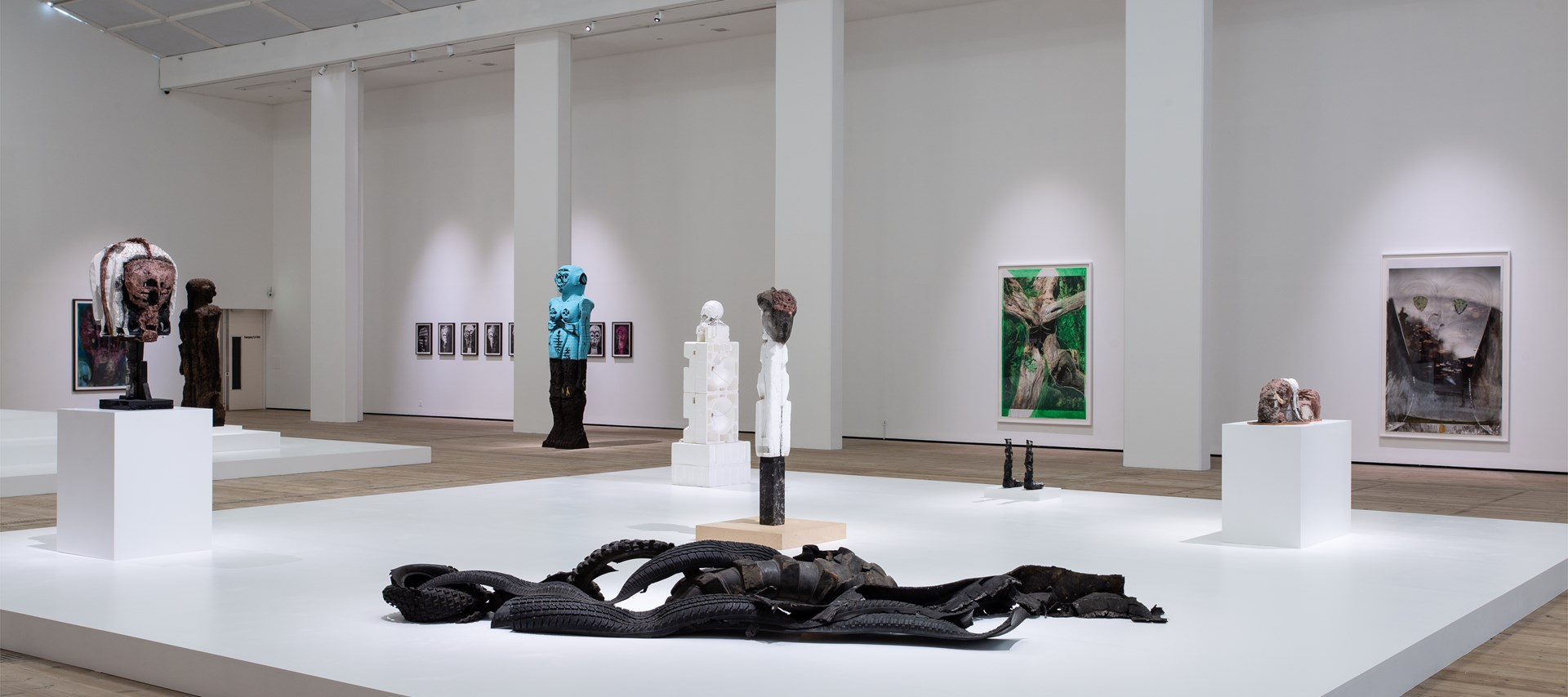 Huma Bhabha: Against Time: Installation view by Rob Harris © BALTIC 2020