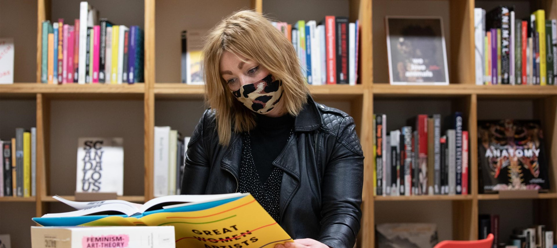 Amanda in Library with mask