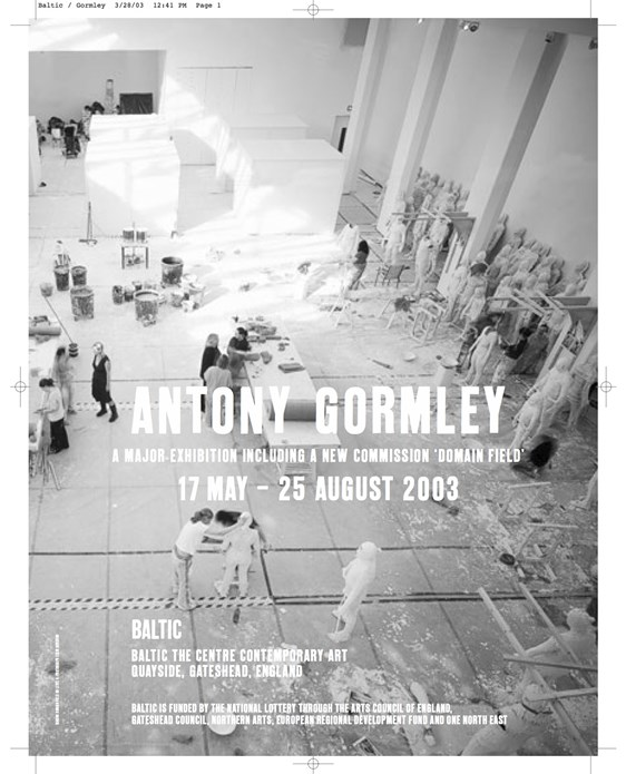 Antony Gormley: ArtForum/Frieze advert