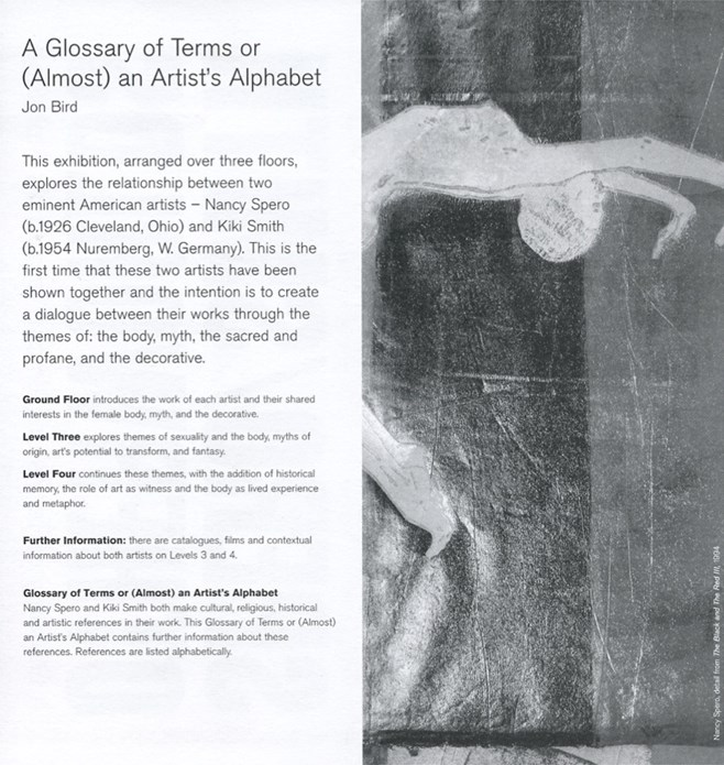 Otherworlds: The Art of Nancy Spero and Kiki Smith: Glossary of Terms