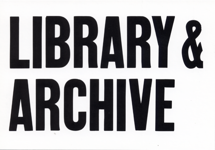 Library & Archive Postcard - version 1