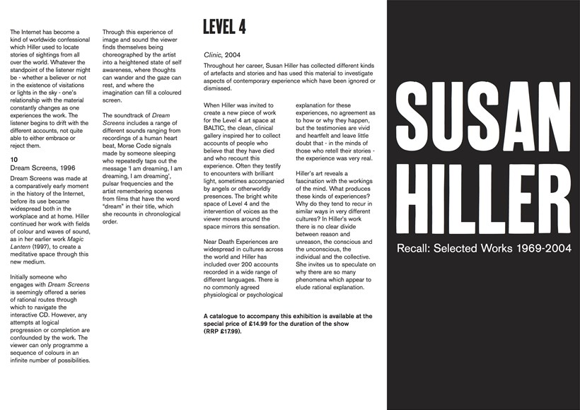 Susan Hiller: Recall 1969-2004: Exhibition Guide