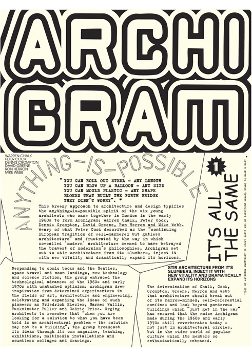 Archigram: Exhibition Text