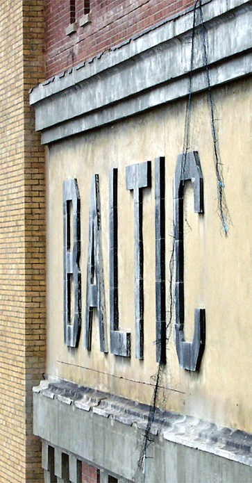 BALTIC: Brick sign: October 2001