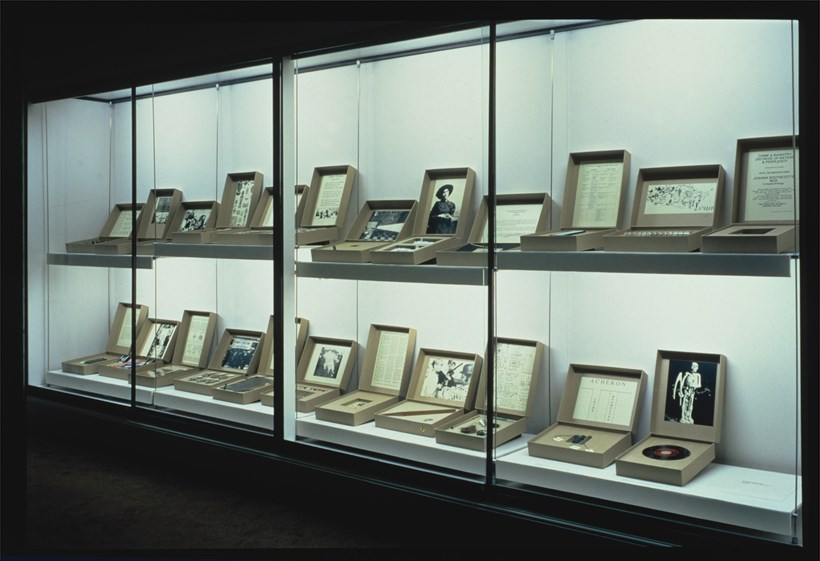 Susan Hiller: Recall 1969-2004: From the Freud Museum: Exhibition Shot (02)