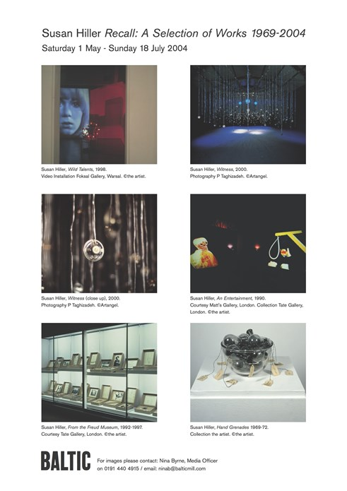 Susan Hiller: Recall 1969-2004: Image Sheet