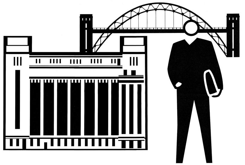 Julian Opie: Baltic/Tyne Bridge