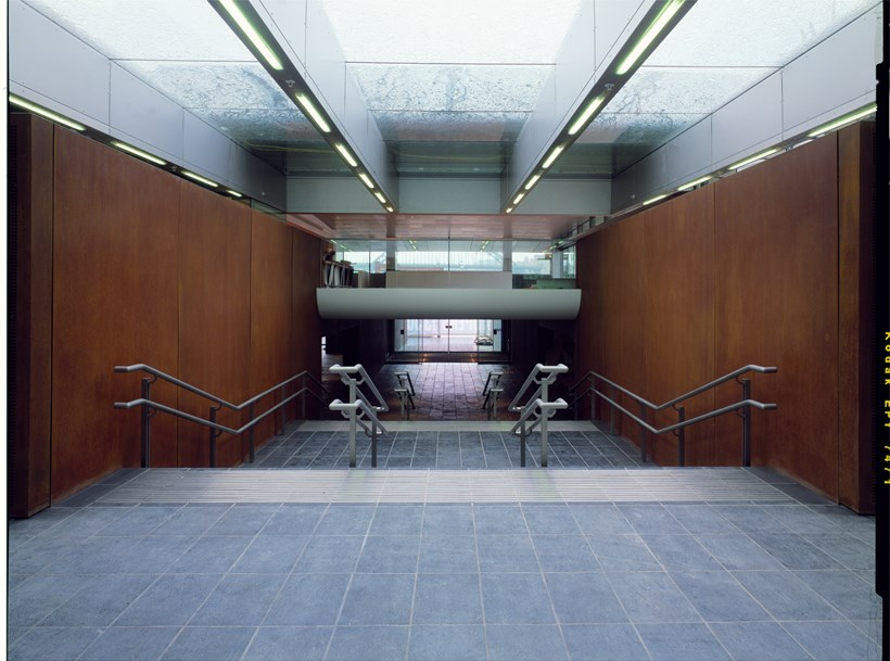 BALTIC Centre for Contemporary Art [2002/00/00] Foyer staircase looking towards entrance