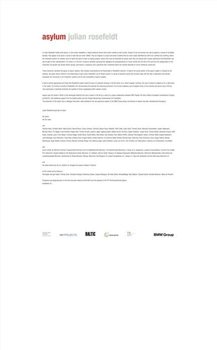 Julian Rosefeldt: Text and Credit Panels