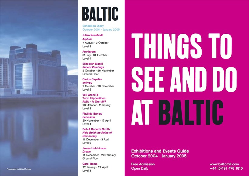 BALTIC What's On Guide (04/03) October 2004 - January 2005