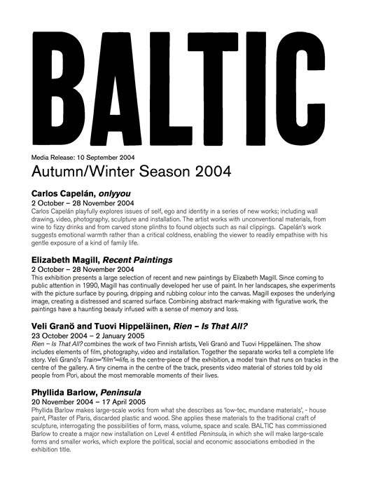 BALTIC Autumn/Winter Season