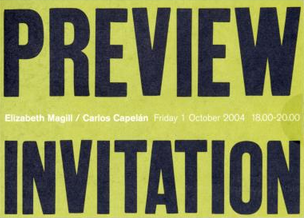 Elizabeth Magill & Carlos Capelan: Preview Invitation Card