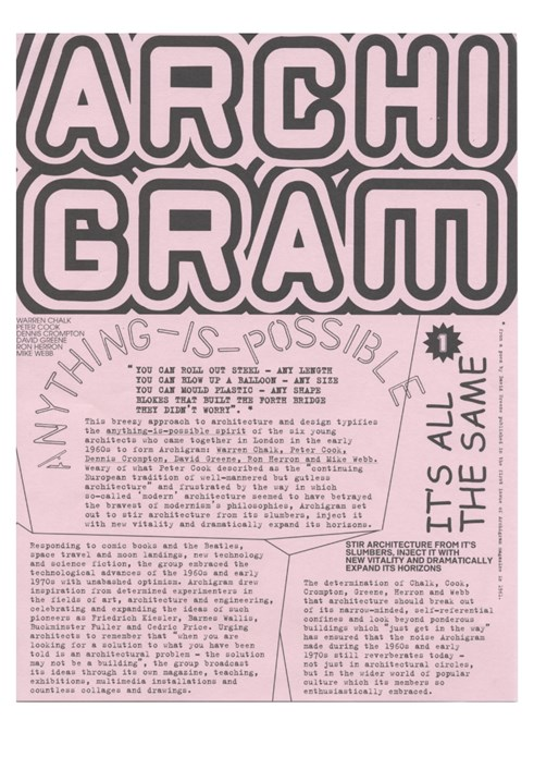 Archigram: Tear-off Information Sheets