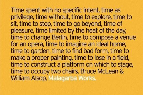 Bruce McLean & William Alsop: Malagarba Works