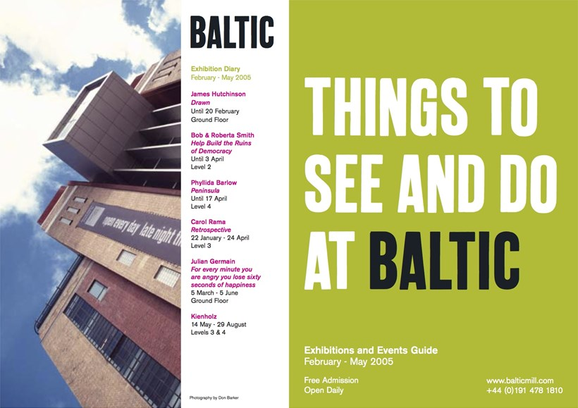 BALTIC What's On Guide (05/01) February - May 2005
