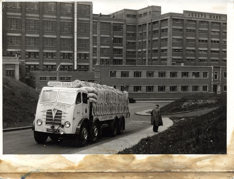 Joseph Rank Ltd white lorry carrying flour