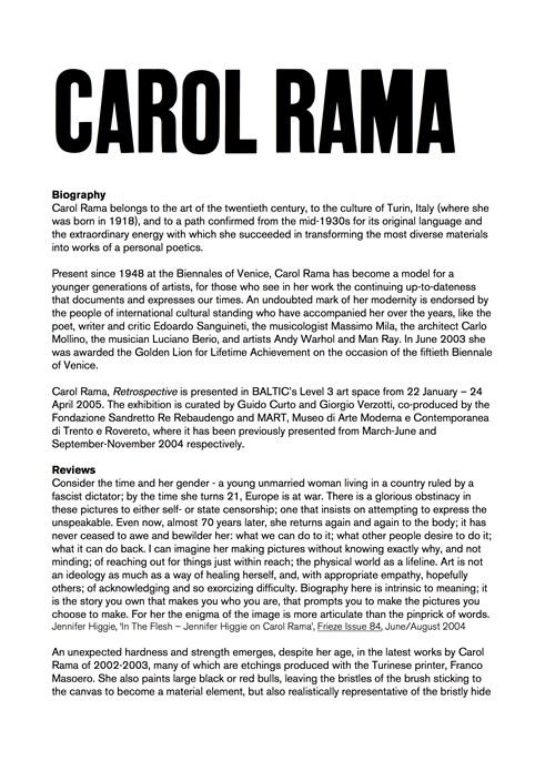 Carol Rama Biography