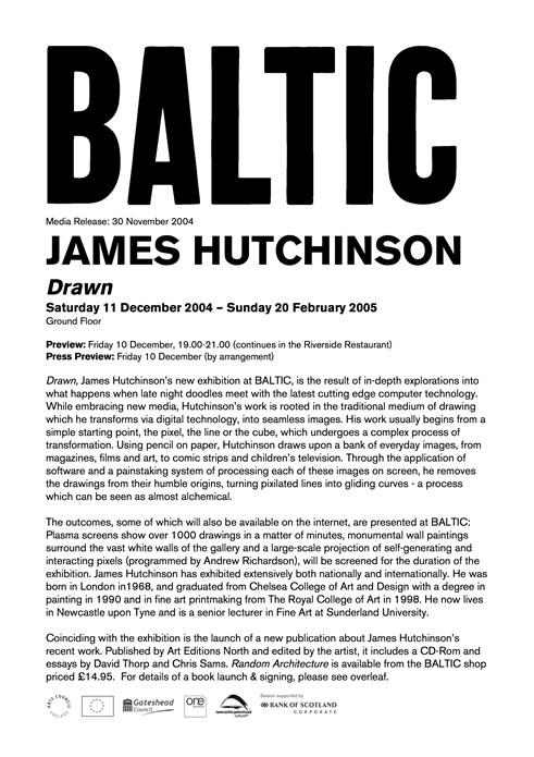 James Hutchinson: Drawn: Press Release