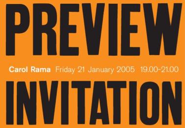 Carol Rama Retrospective: Preview Card