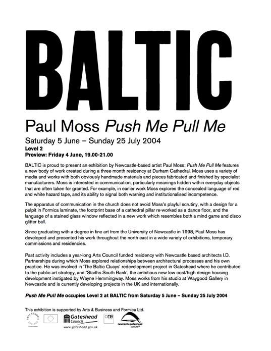 Paul Moss: Press Release