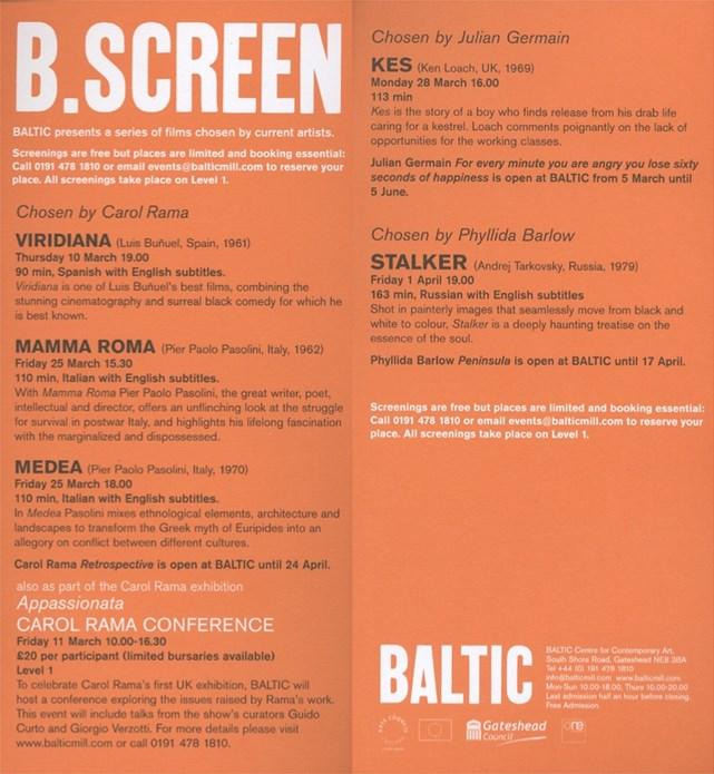 B.Screen: Events Leaflet
