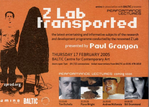 Paul Granjon Performance Lecture: Promo Postcard