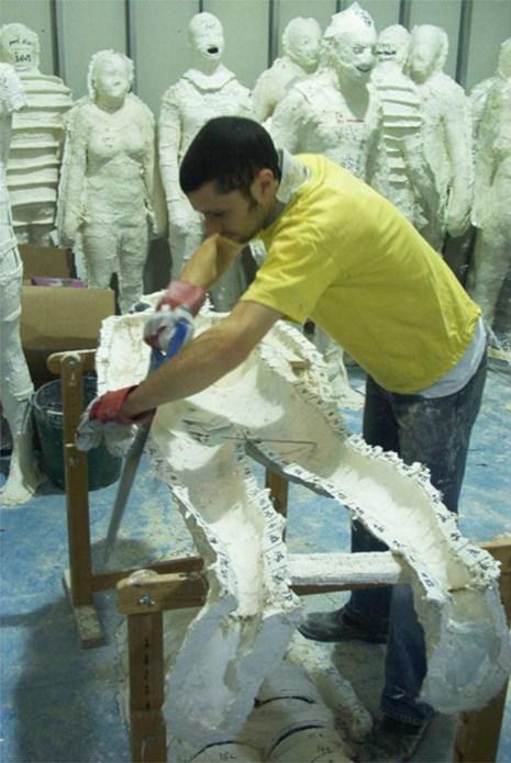 Antony Gormley: Domain Field: Moulding in Level 4 Art Space